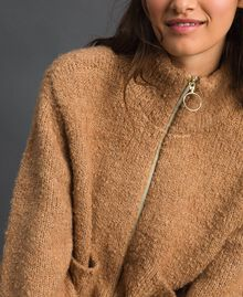 """Giacca in maglia bouclé Beige """"Camel Skin"""" Donna 192LI3KDD-04"""