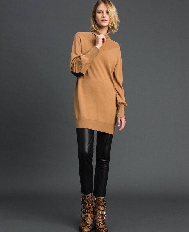 Maxi pull en laine et cachemire Beige «Séquoia» Femme 192ST3152-01