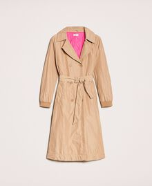 Double breasted taffeta trench coat Light Brown Woman 201ST2072-0S