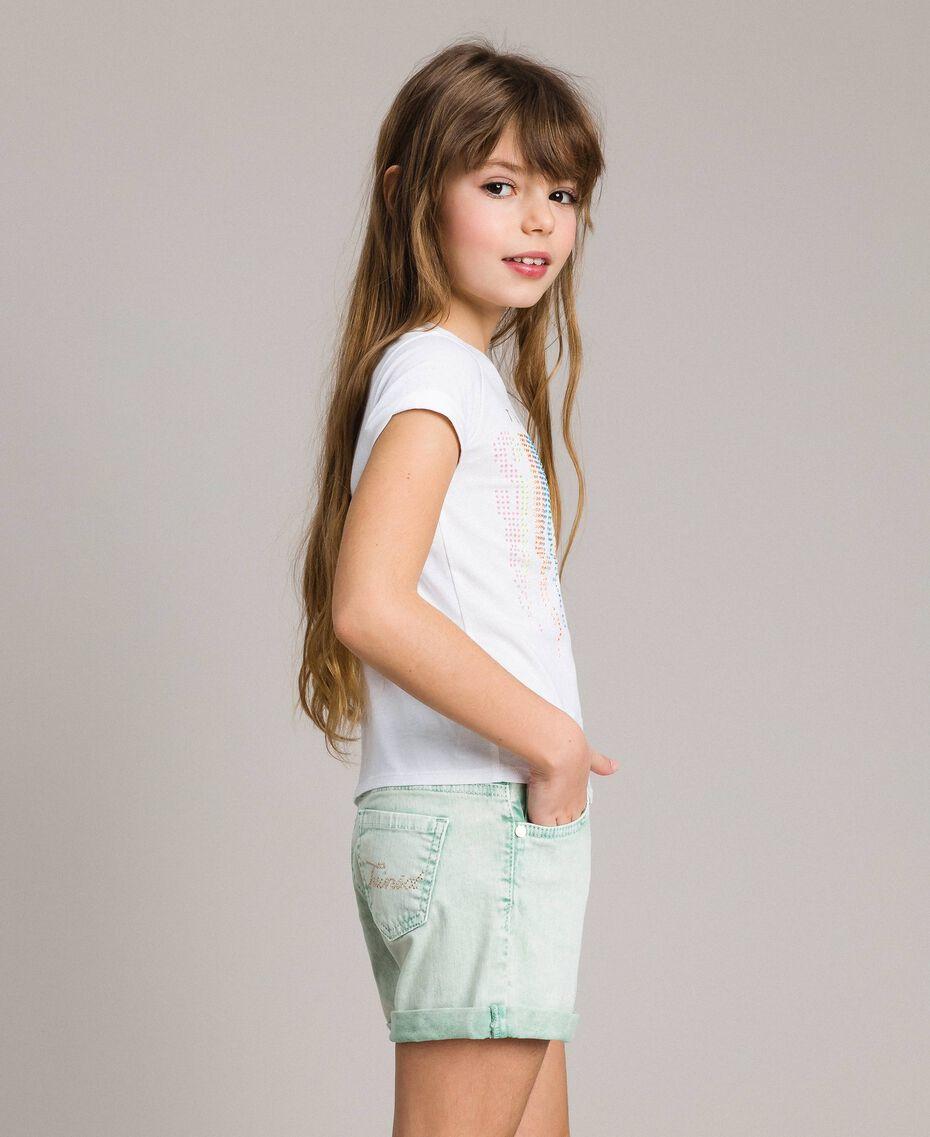 """Bull délavé shorts """"Island Paradise"""" Light Blue Child 191GJ2491-02"""