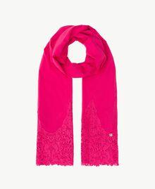 Macramé lace scarf Provocateur Pink Woman OS8T27-01