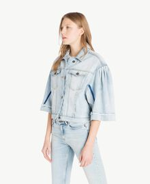 Cropped denim jacket Denim Blue Woman JS82T5-02
