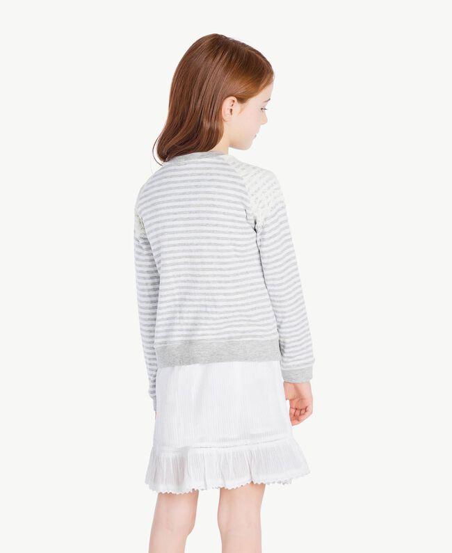 "Lace sweatshirt ""Papyrus"" White / Melange Grey / Chantilly Child GS82UB-04"