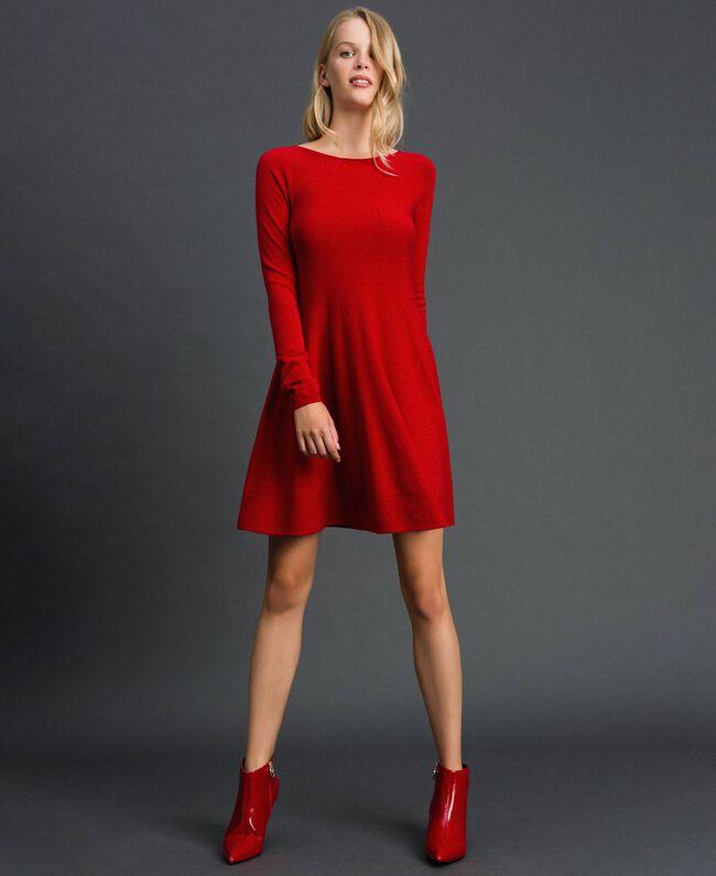 Abito a corolla in maglia Rosso Veneziano Donna 192TT3281-01