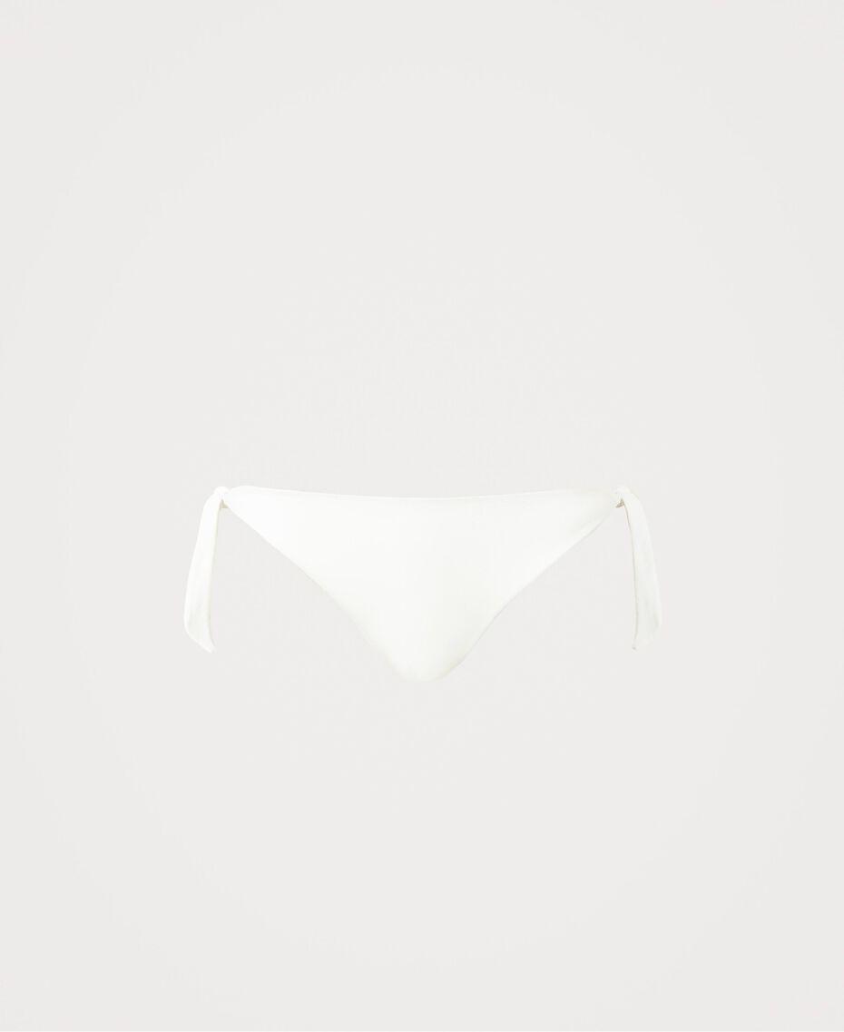 Bikinitanga mit Schleifen Elfenbein Frau 211LMM888-0S