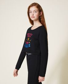 Cropped sweatshirt with print Black Child 202GJ2811-03