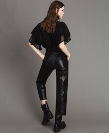 Pantaloni in similpelle Nero Donna 191TP2550-04