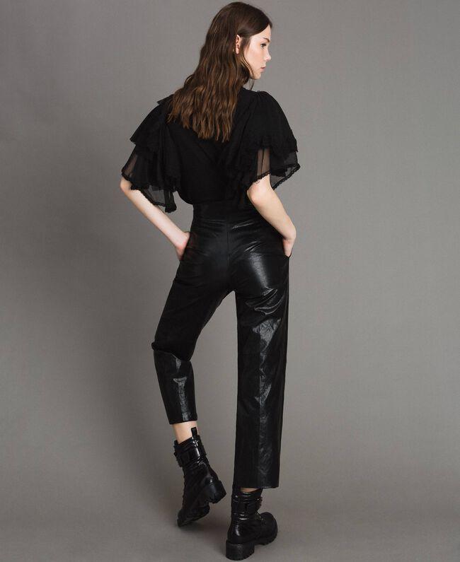 Pantaloni in similpelle Nero Donna 191TP2550-04