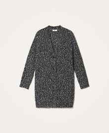Tweed knit maxi cardigan Magenta Pink Woman 202LI3PFF-0S
