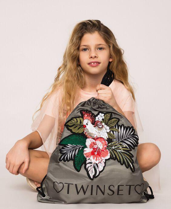 Рюкзак с цветочной нашивкой