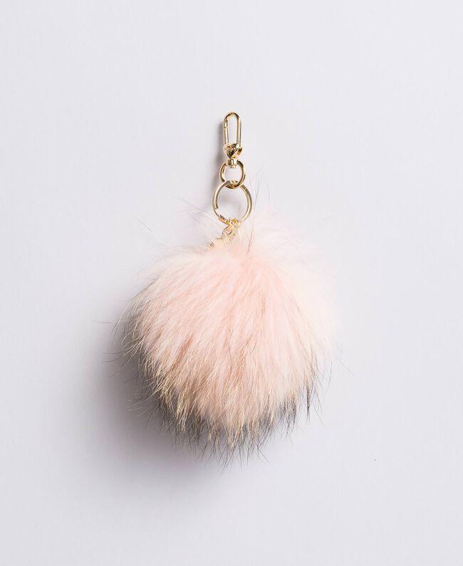 Fur pompom keychain Light Pink Woman AA8PM4-01