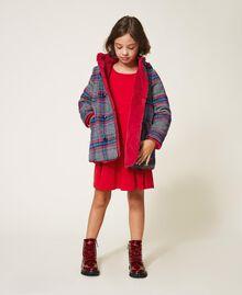 Robe avec plis et satin Rouge Cerise Enfant 202GJ2153-0T