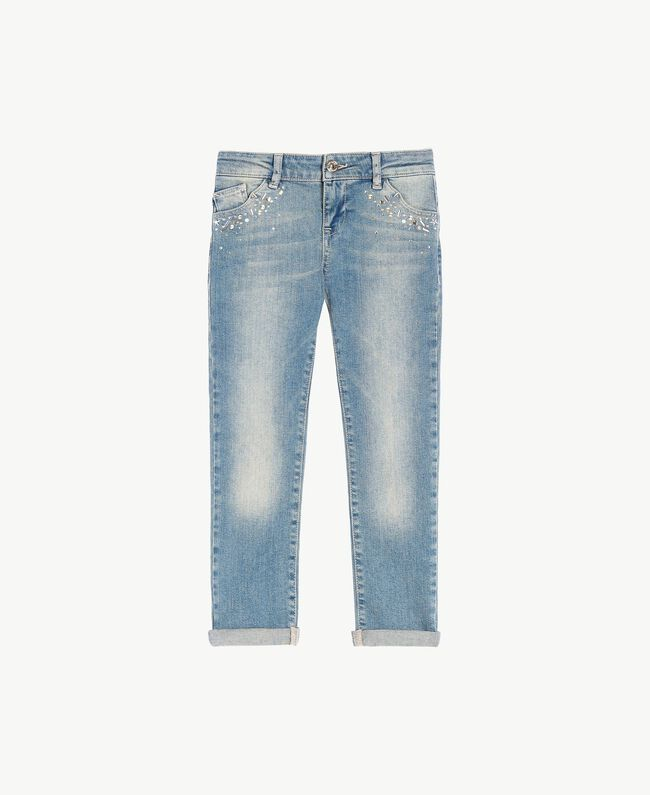 """Jean skinny Bleu """"Denim Moyen"""" Enfant GS82T3-01"""
