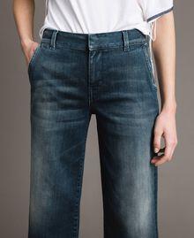 Chino-Jeans mit Fade-out-Waschung Denimblau Frau 191MP2478-05