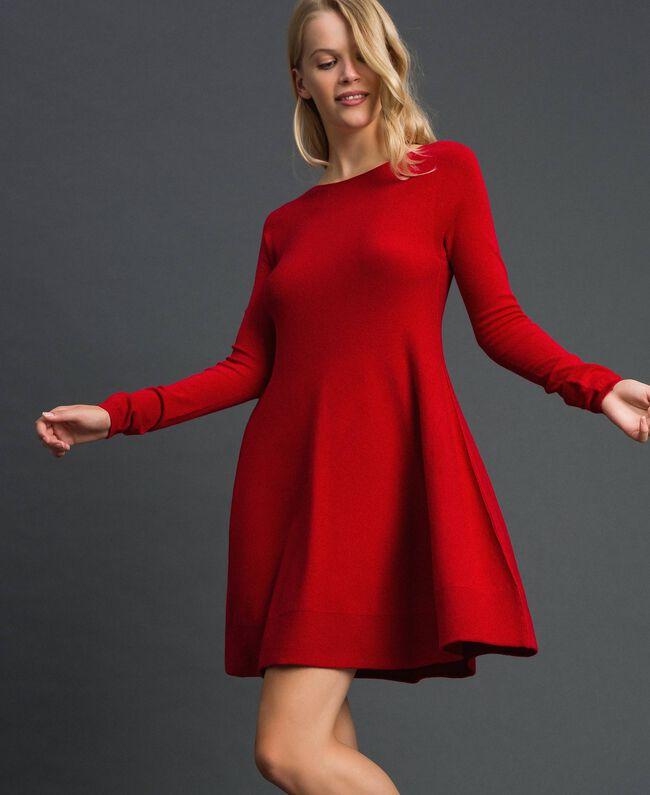 Abito a corolla in maglia Rosso Veneziano Donna 192TT3281-04