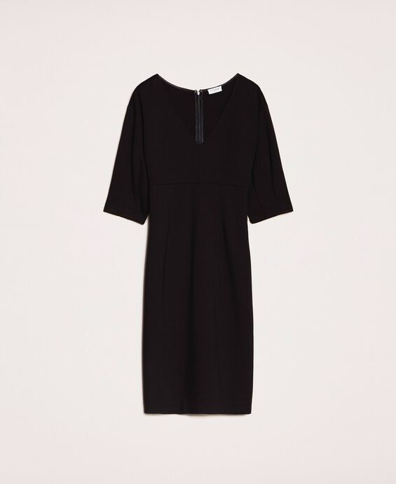 Sheath dress with three-quarter sleeves