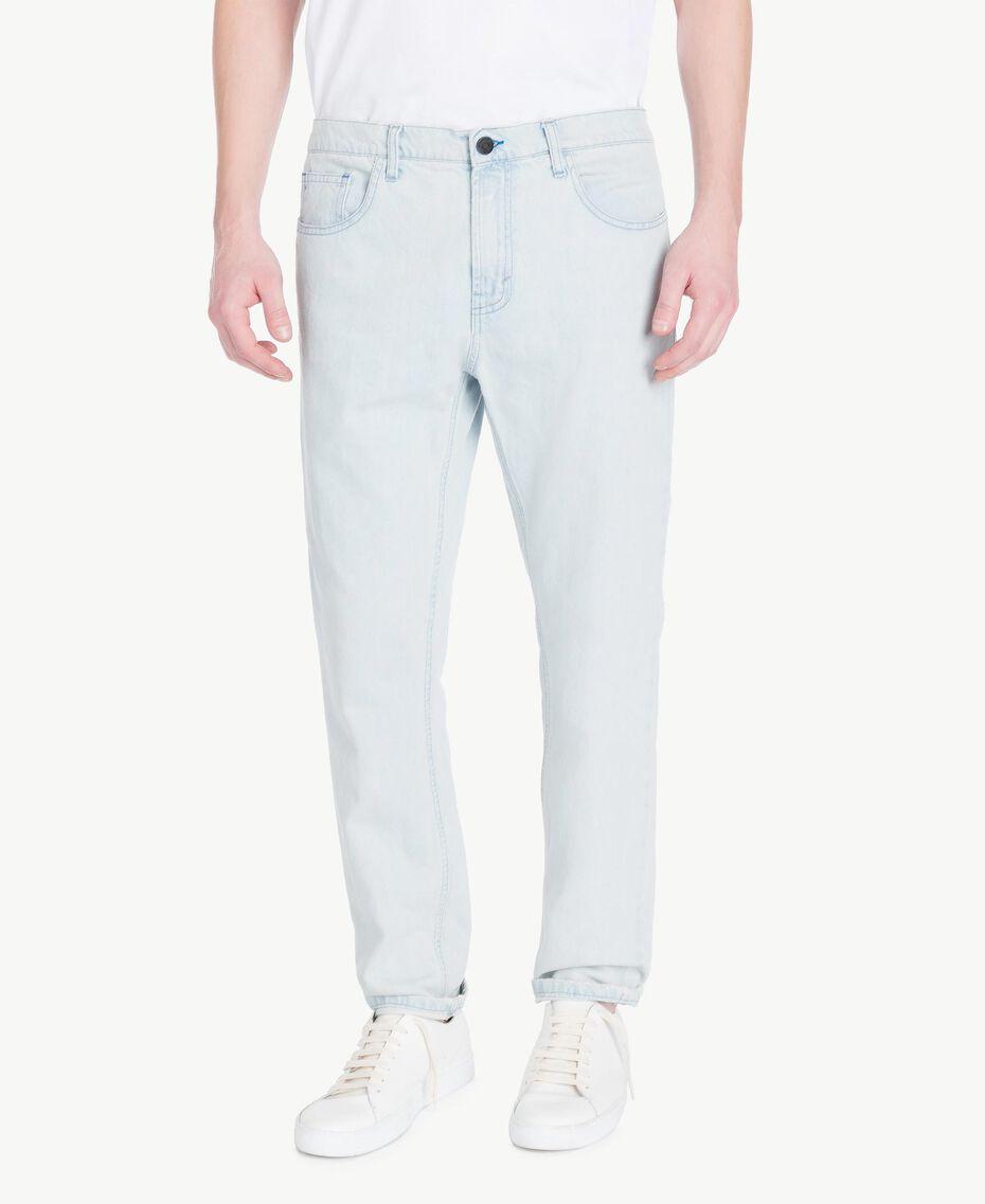 Jean cinq poches Bleu Denim Homme US82BP-01