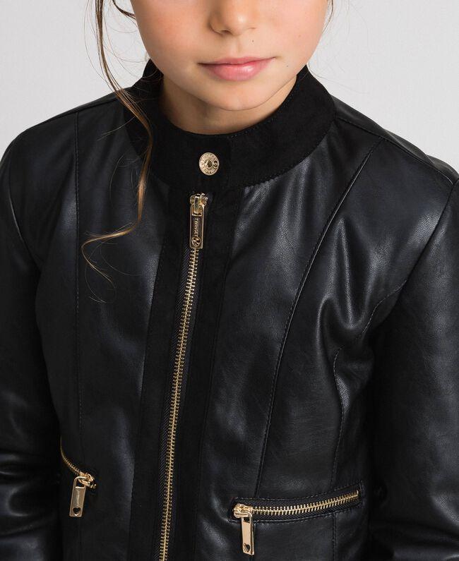 Байкерская куртка из искусственной кожи Красный Ruby Wine Pебенок 192GJ2010-04