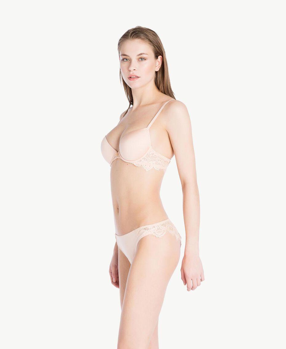 Soutien-gorge push-up dentelle (bonnets B) Rose «Pêche Poudré» Femme LS8C33-02