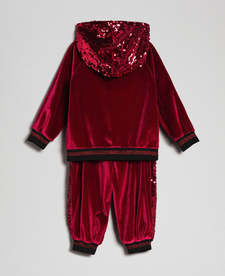 Velvet sweatshirt and sequin trousers Blue Night Child 192GB2092-0S