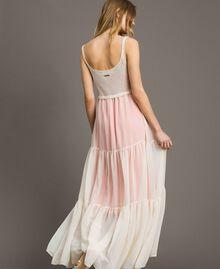 "Long chiffon and knit dress ""Milkway"" Beige Woman 191LB2KBB-03"