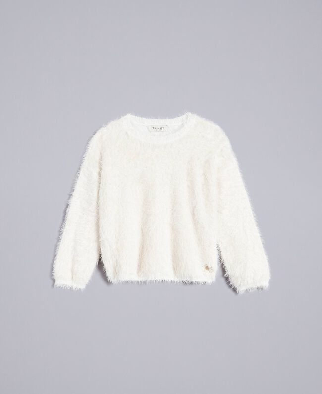 Pull en point fourrure Off White Enfant GA83D2-01