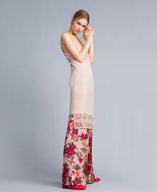 """Crêpe de Chine slip dress """"Nude"""" Beige Woman SA82H5-02"""