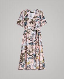 """Robe en crêpe avec imprimé floral Imprimé Exotique """"Rose Doux"""" Femme 191ST2232-0S"""