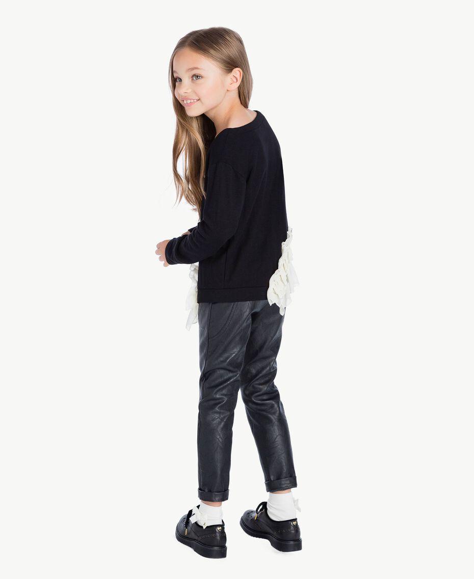Pantalón de cuero sintético Negro GA72A1-03