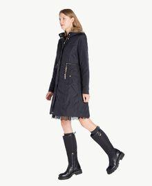 TWINSET Stiefel aus Leder Schwarz CA7TB3-05