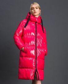 Steppmantel in Lackoptik Pink Gloss Frau 192MT2071-02