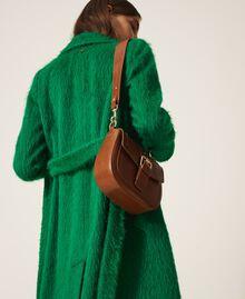 Round Rebel shoulder bag Leather Brown Woman 202TD8172-0S