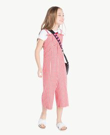 Gingham jumpsuit Gingham / Pomegranate Red Jacquard Child GS82ZD-05