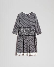 Robe en twill avec imprimé siglé Imprimé Logo Noir / Blanc Neige Femme 192TP258C-0S