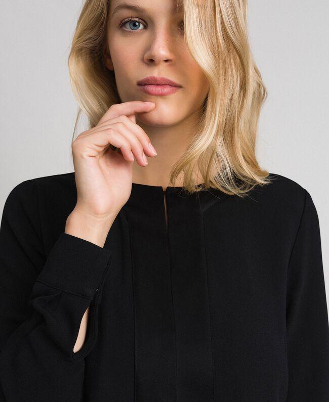 Robe mi-longue avec fond de robe Noir Femme 192TT229C-04