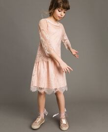 Jersey dress and lace blouse Blossom Pink Child 191GJ2740-0S