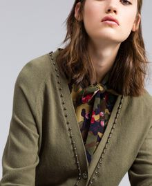 Long cardigan with pearls Alpine Green Woman JA8314-04