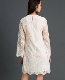 Short lace dress Cream Woman 192LI21EE-03