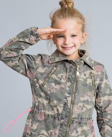 Parka in canvas stampato Stampa Camouflage Bambina GA82EA-05