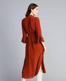Robe longue en soie mélangée avec strass Brûlé Femme TA8233-04