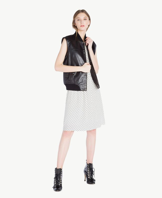 Leather jacket Black Woman PS82DA-05