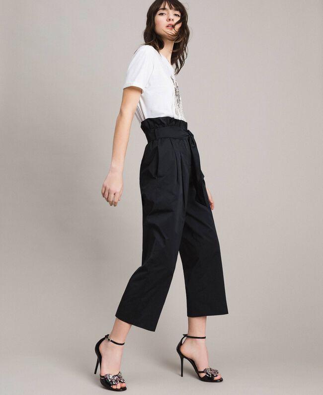Pantalon en taffetas Noir Femme 191TP2654-03
