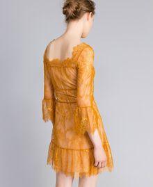Short Valencienne lace dress Brandy Woman PA82FY-03