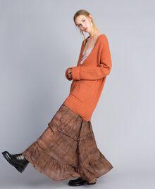 Cardigan en mohair mélangé Rouge «Redwood» Femme SA83BC-01