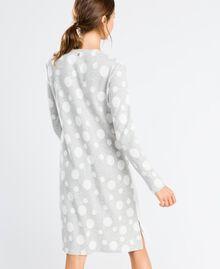 Jersey nightgown with polka dots Bicolour Grey / Ivory Polka Dots Woman LA8UDD-03