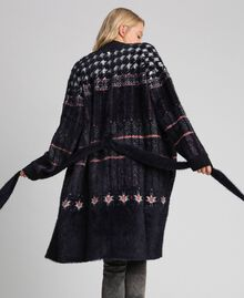 Jacquard knit coat Black Woman 192MT3210-05
