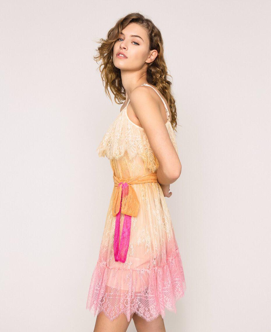 Tie-dye lace dress Multicolour Tie Dye Pink Woman 201TT2281-02