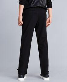 Pantalon en point de Milan Noir Enfant GA82F1-03