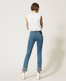 Push up jeans with studs Light Denim Woman 202MP2192-04