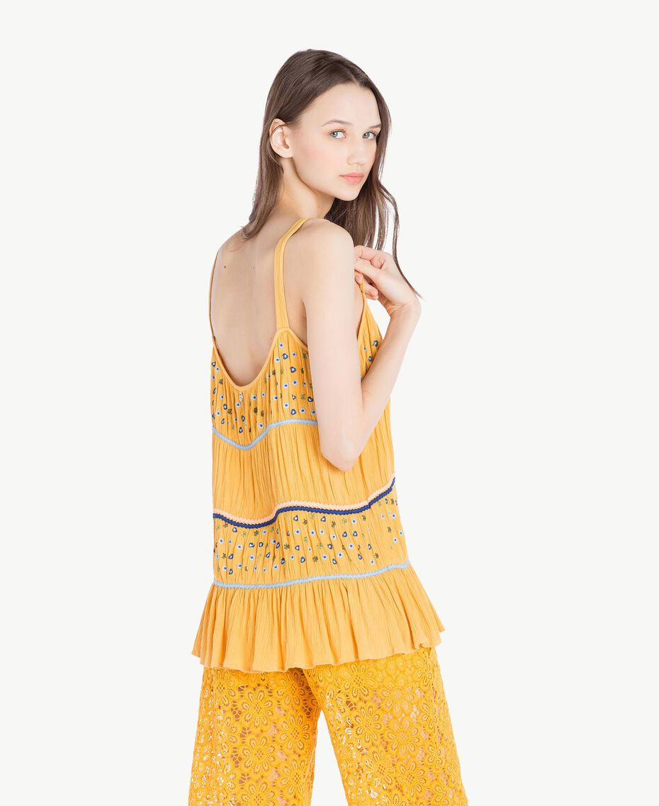 Embroidered top Mineral Yellow Woman SS82HC-03